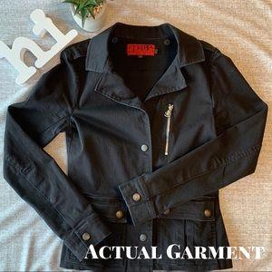 Medium Weight Black Blazer/Jacket w/Skull Detail
